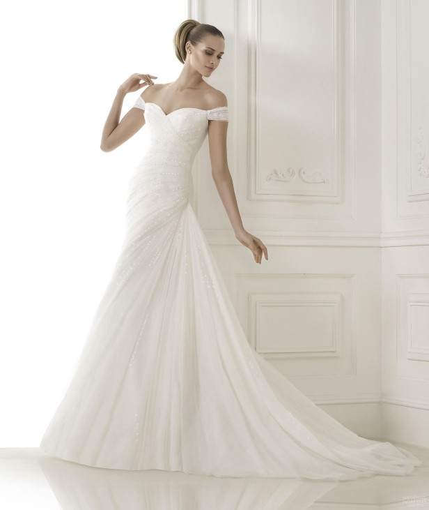 off-the-shoulder-sweetheart-draped-wedding-dresses