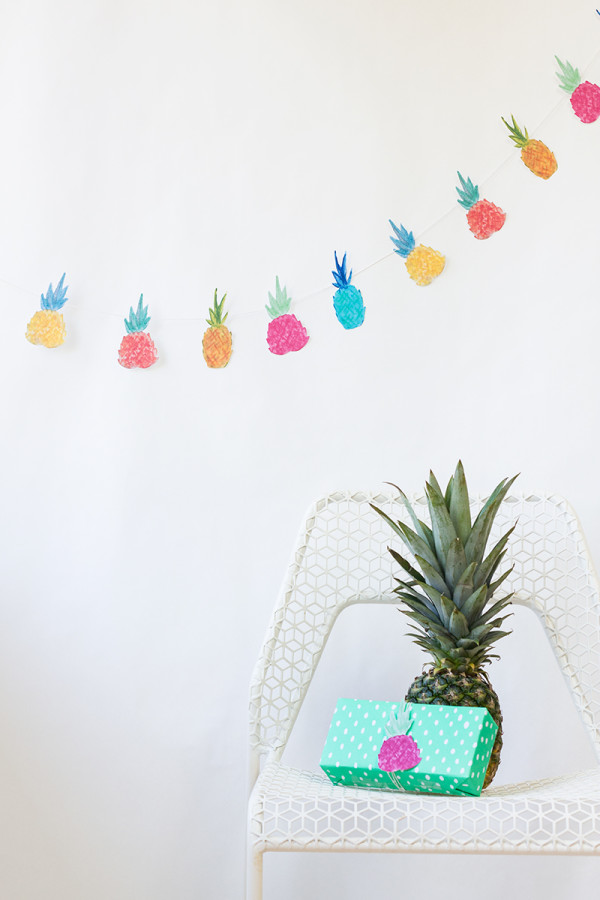 DIY-Pineapple-Garland-600x900