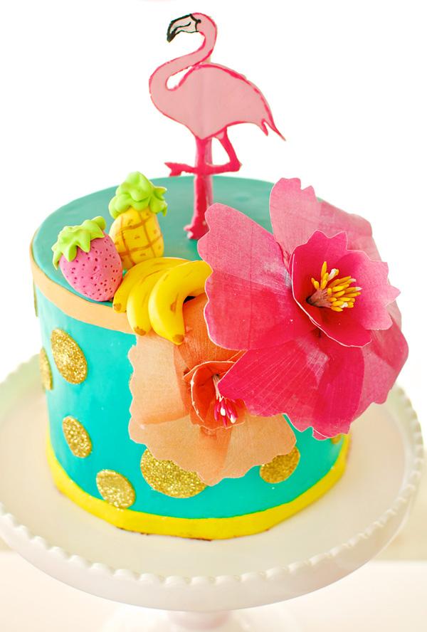 hawaiian-flamingo-birthday-cake