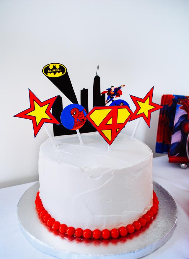 tutorial pastel de superheroe