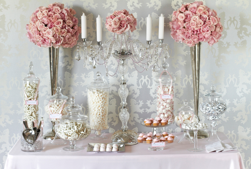 pink-wedding-candy-station-buffet