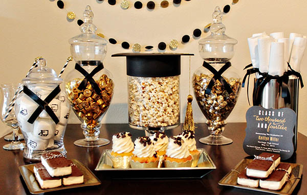 Adorable-Black-And-Gold-Grad-Party-With-Some-Darling-DIY-Details-B.-Lovely-Events