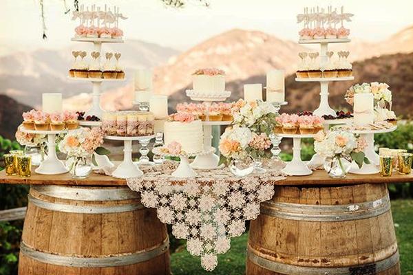 una mesa de dulces estilo rustico shabby chic luz angela