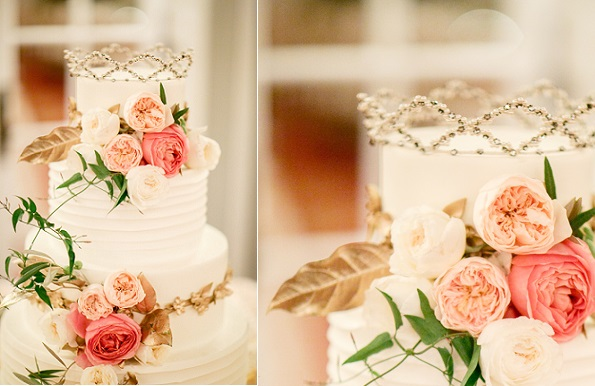 tiara crown cake topper, Cake Chicago via Brides dot com, Kina Wicks Photography