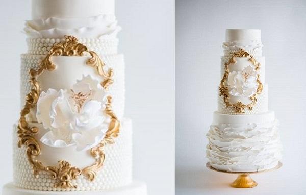 gold-framed-wedding-cake-design-by-La-Fabrik-A-Gateaux