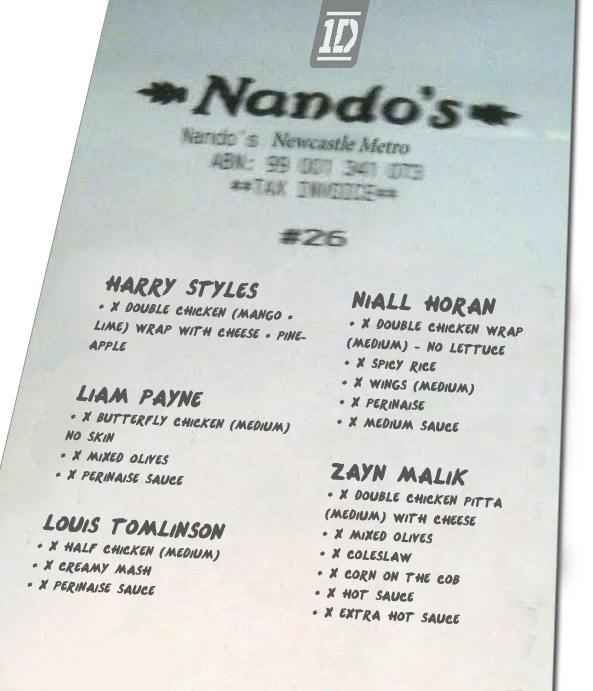 OneDirection-Nandos-receipt