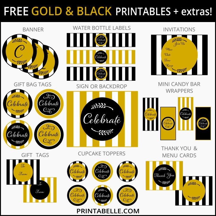 Free-Gold-Black-Party-Printables-Extras.png