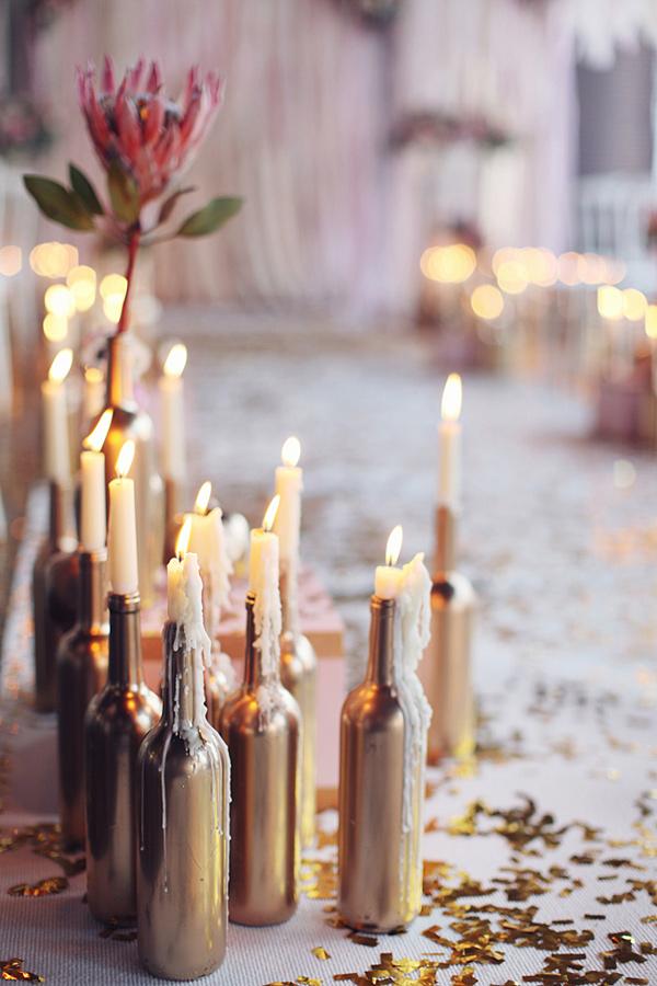 Mesa de dulces por color: ideas para una mesa de dulces dorada ...