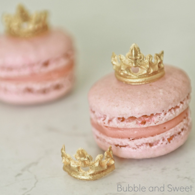 edible fondant tiara gold how to make free tutorial princess macaron party ideas for girls 7 8 9 birthday.jpg