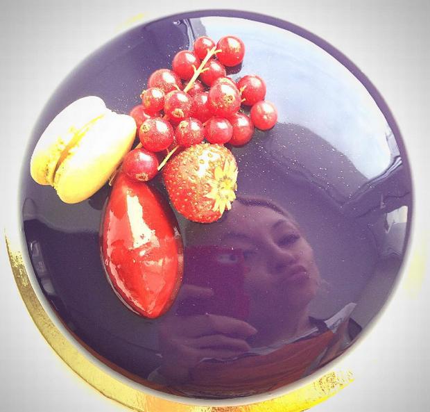 T cnica espejo de olga noskova luz angela for Decoracion de tortas espejo