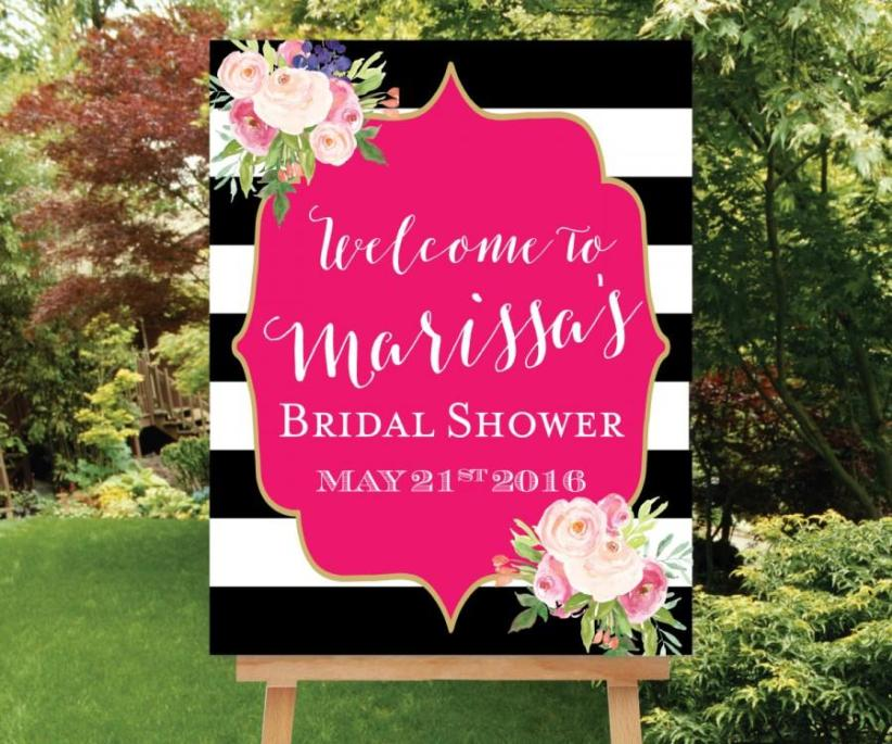 shower-welcome-sign-large-welcome-sign-baby-shower-welcome-sign-floral-bridal-sign-pink-shower-sign-black-white-stripes-the-kate.jpg
