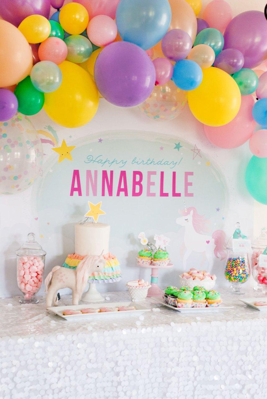 Tendencia ideas dulces para una fiesta de unicornio luz - Decoracion mesas fiestas ...